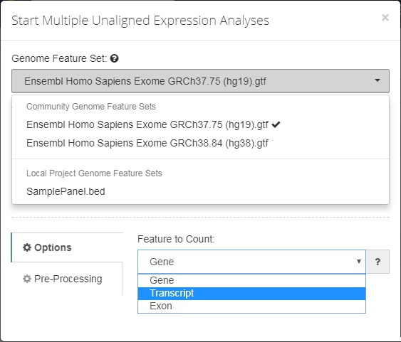 Genome Feature Set Selection