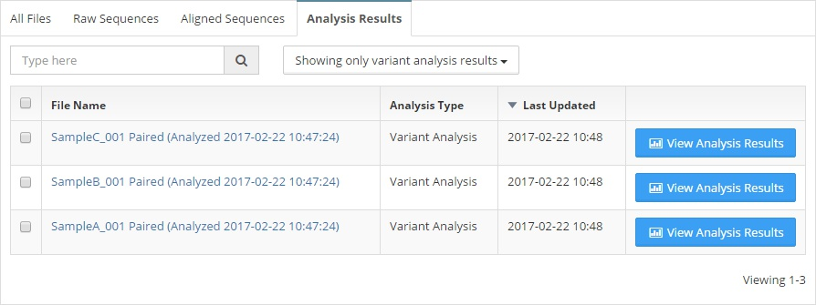 Navigating to Variant Analysis Results
